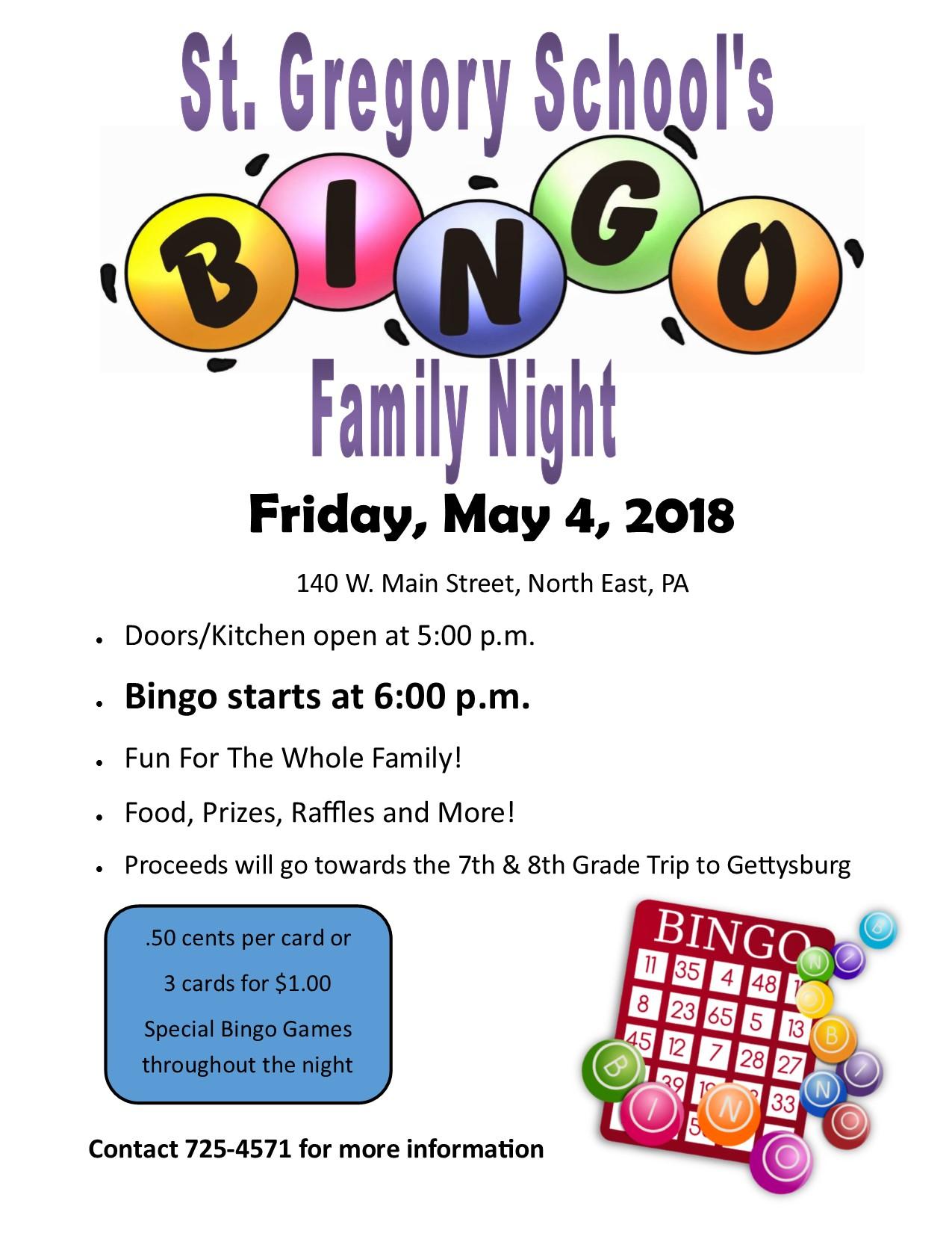 Family Bingo Night 2018